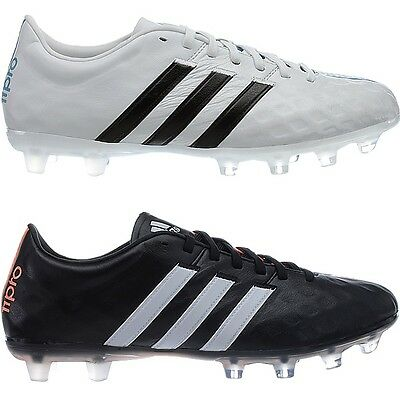 8cb6f9ae7 Adidas 11pro FG Profi football boots for men white or black smooth leather  NEW
