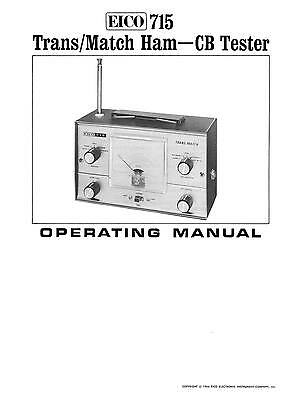EICO Model 715 Trans-Match Tester Operating Manual