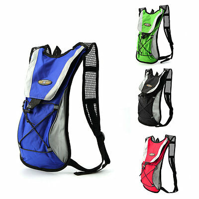 2L Water Bladder Bag Rucksack Cycling Sport Bag Backpack Pack Hiking Camping GT