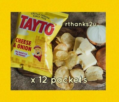 Tayto Cheese and Onion Crisps 25g - 24 Packets  - A Taste Of Home