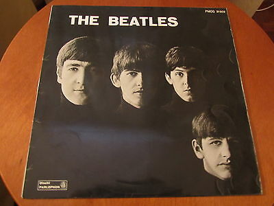 THE BEATLES FIRST LP PMCQ 31502 Italy 1963 BLACK LABEL Great Cover
