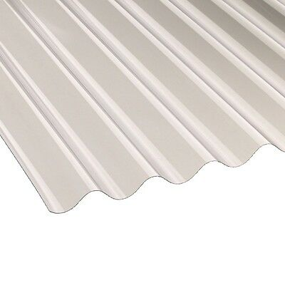 Pvc Corrugated Sheet 3inch Profile 1.1mm thick, heavyweight *Clear*