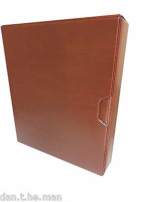 Tan A4 Multi-Master Collectors Album / Binder & Slipcase - Padded 4 Ring Binder