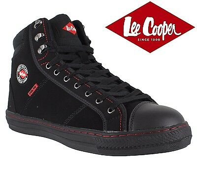 Lee Cooper Mens Leather Safety Work Black Boot Steel Toe Cap Shoes Trainers Size