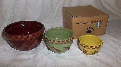 Boyds collection Momma McVeggie's Vegetable Nesting bowls.