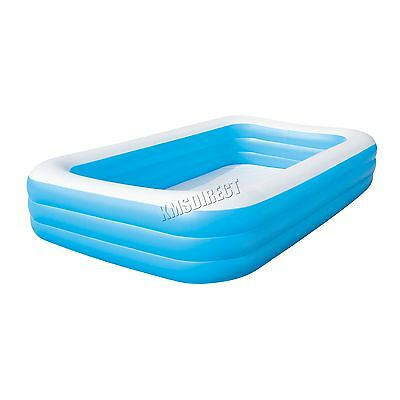 "BestWay Family Swimming Paddling Pool Rectangular Inflatable 10'X72""X22"" BW54009"