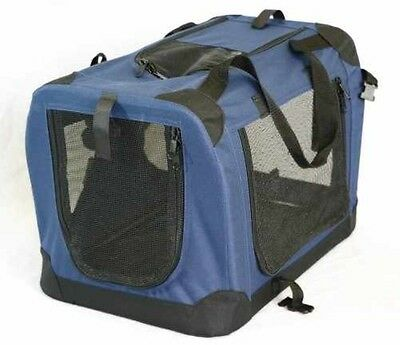 Portable Soft Pet Carrier Crate Kennel Dog Cat Travel Small Animal 20x14x14 BLUE
