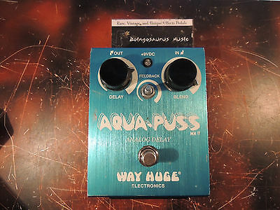 Way Huge Aqua Puss Analog Delay Effects Pedal Mkii Dunlop  Free Shipping