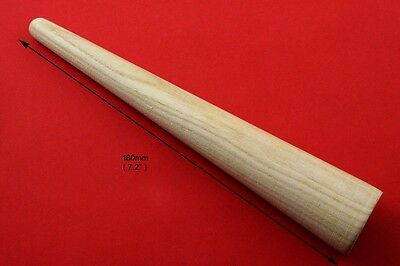"178mm 7"" Wooden Jewellers Ring Mandrel , Shaping Stick Polishing / Grinding Tool"