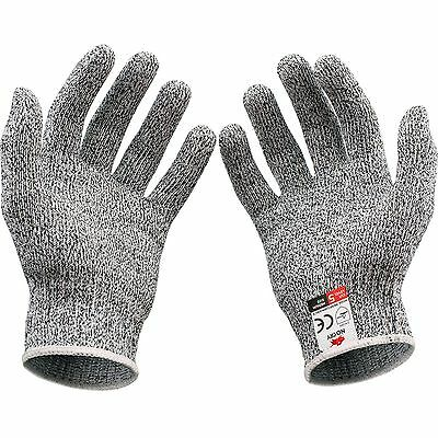 2 x Gray Stainless Steel Wire Safety Cut Resistance Works Anti-Slash  Gloves