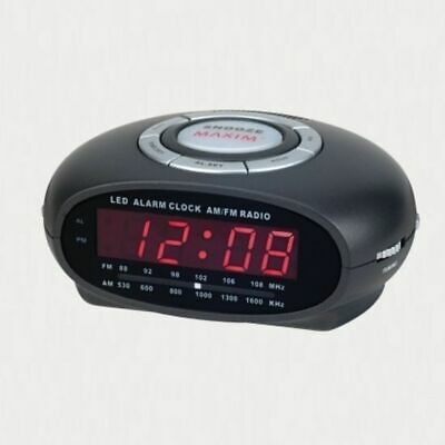 Bedside Table Alarm Clock AM/FM Radio w/ Night Light Snooze Button & Sleep Timer