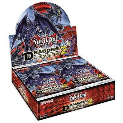 YU-GI-OH! TCG Dragons of Legend Series 2 Booster Whole Box Trading Card