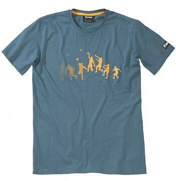 Kempa Trick T-Shirt, Kinder, blau-grün/orange