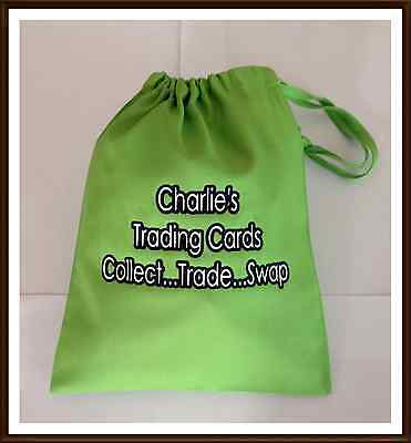 Personalised Trading Card Cards Storage Bag Cotton Drawstring Bag Swaps Doubles