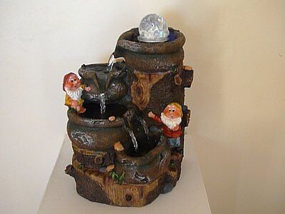 Indoor Water Feature-Tabletop LED Fountain-Christmas Gift-Pump-ZG00219
