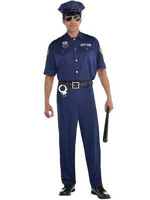 Adult Policeman Police Uniform Mens Fancy Dress Costume Party M -  XXL On Patrol