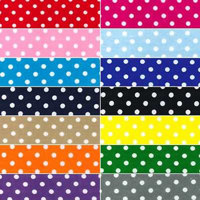 Polycotton Fabric 4mm Oh Sew Polka Dots Spots Spotty Dotty