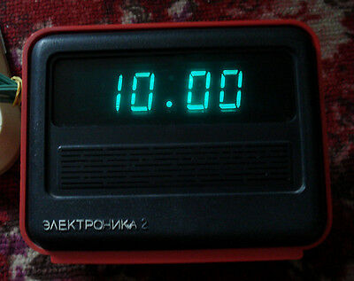 Rare Elektronika 2-06 Vintage Ussr Russian Tube Desk Digital Alarm Clock