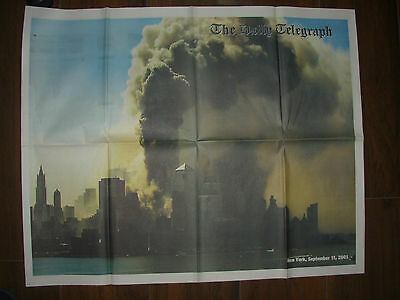 VINTAGE NEWSPAPER DAILY TELEGRAPH SEPTEMBER 12th 2001 ATTACK ON AMERICA 9/11