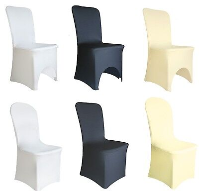 Spandex  Lycra Chair Cover White Black Ivory Covers Banquet Wedding Party
