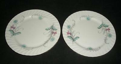 "(1) WAYSIDE by AYNSLEY Swirled CHINA 8 1/2"" SALAD PLATE (1)"