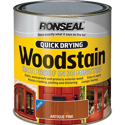 Ronseal Woodstain Quick Dry Satin Deep Mahogany 250ml
