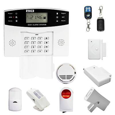 Smart Wireless GSM SMS Home Burglar Security Alarm System Detector Sensor Call