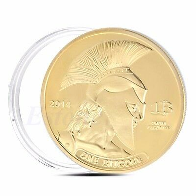 Titan Gold Plated Commemorative Coin BTC Bitcoin Collectible Collection Physical