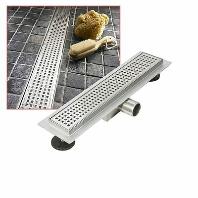 """300mm Stainless Steel Long """"Rectangular"""" Wetroom / Shower Drainage System"""