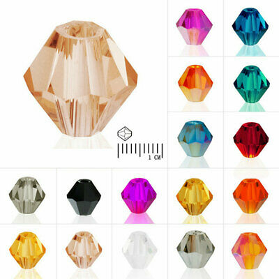 40/50/120/150pcs Crystal Beads Bicone Loose Jewelry Fit Necklace 3/4/6/8mm