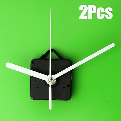 2x DIY White Hands Quartz Wall Clock Movement Mechanism Repair Parts Tools Kit
