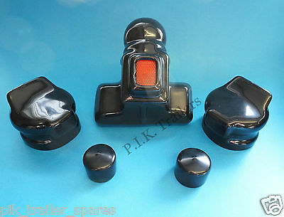 Towball Cover with Reflector with 2 x Plug & Socket Covers - Caravan