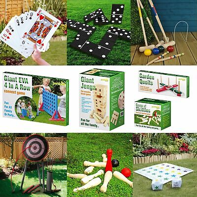 Giant Jenga Quoits Boules Limbo Croquet Skittles Connect 4 In A Row Garden Games