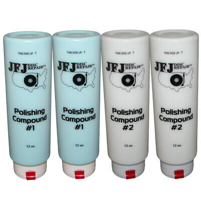 4 x JFJ EASY PRO Polishing Compound Solution #1 Blue & #2 White 12oz