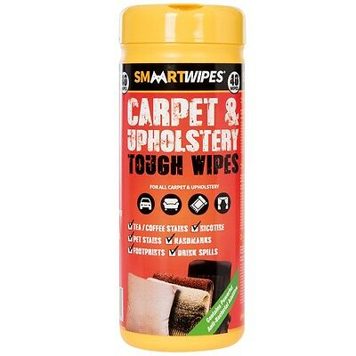 Smaart Heavy Duty Carpet and Upholstery Tough Wipes 40 Pack