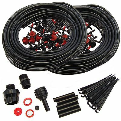 46M Garden Micro Irrigation System Kit Automatic Plant Greenhouse Watering New