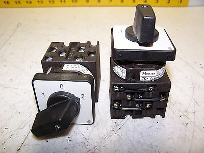 2) Moeller T0-3-8212 Rotary Switch 3 Position Lot Of 2