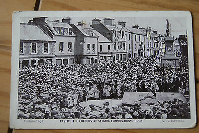 1905 Casting The Colours At Selkirk Common Riding Postcard