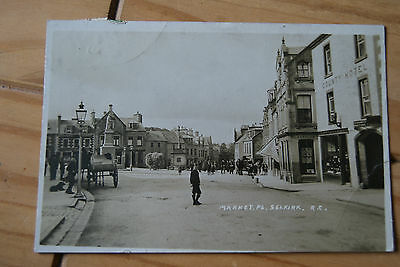 1913 Market Place Selkirk With Horse & Carts Postcard