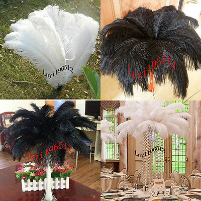 Wholesale 10/50/100pcs High Quality Natural OSTRICH FEATHERS 6-24 inch/15-60cm