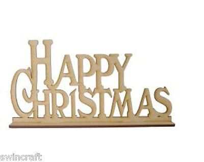 Creative Expressions MDF Shapes Festive FREESTANDING HAPPY CHRISTMAS Flat Packed