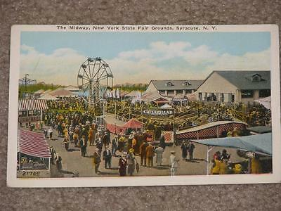 The Midway, New York State Fairgrounds, Syracuse, N.Y., unused