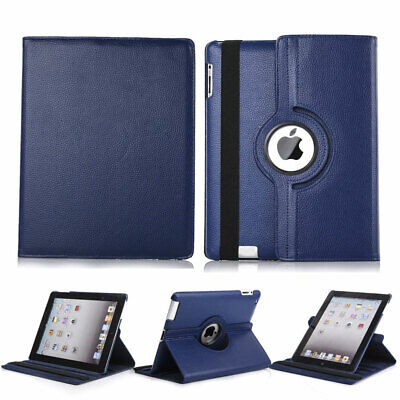 Smart Leather Shockproof Rotating Stand Case Cover For Apple iPad 2 3 4 Mini Air