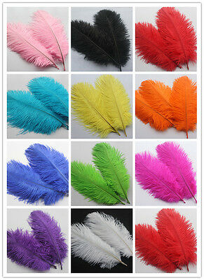 Wholesale! 10-500pcs Ostrich Feathers 15-20 cm / 6-8'Inch Wedding Centerpieces