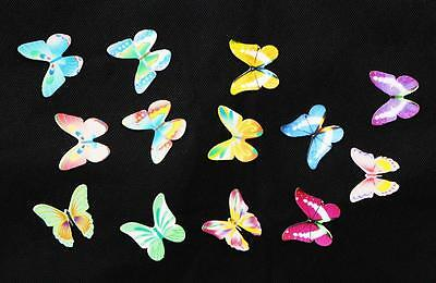 Edible Butterflies Figures Wafer Card Cupcake Toppers Decoration Card 20pcs