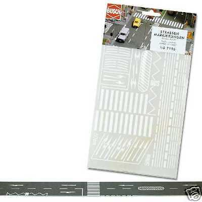 Decor Ho 1/87 Busch 7196 - Marquages Routiers