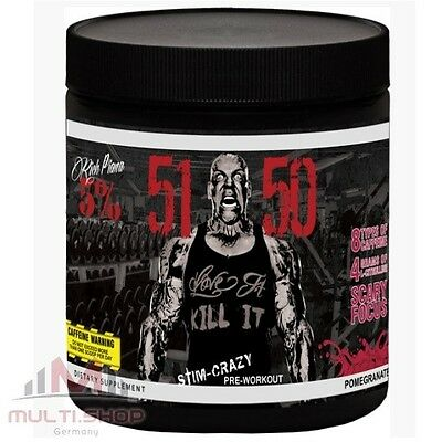 5150 Pre Workout 375g Hardcore Booster Muskelaufbau, Rich Piana 5% Nutrition USA