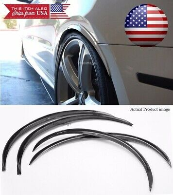 """2 Pair Black 1"""" Flexible Arch Wide Body Fender Well Extension Guard Lip For Ford"""