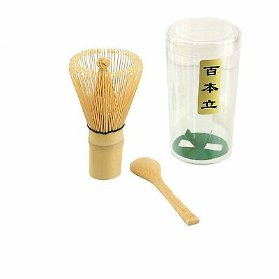 Chasen Green Tea Whisk and Small Scoop for preparing Matcha S-3703