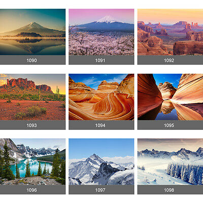 Giant Grand Canyon Everest Mountain Lakeside Scenery Wall Mural Photo Wallpaper